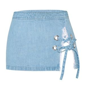 Hidden cult denim mini skirt